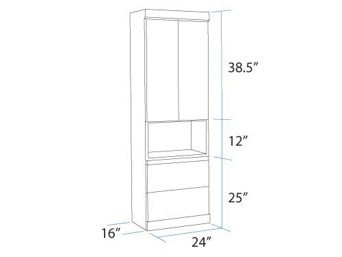 Bookcase With Top Doors and Bottom Drawers Dimensions Murphy